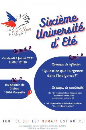 Affiche Sixième université d'été 2021