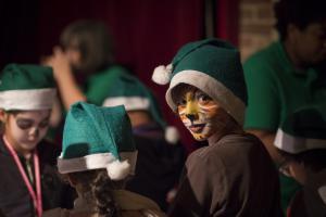 Père Noël verts au musée des arts forains