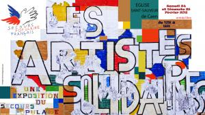 Affiche Expo artistes solidaires 2018