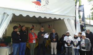 Inauguration du stand au PdB