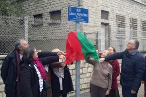 Inauguration rue Julien Lauprêtre