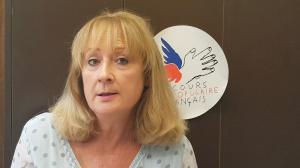 Corinne Makowski, secrétaire nationale du Secours populaire chargée de la solidarité dans le monde