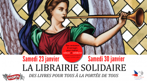 Librairie solidaire à l'Utopia