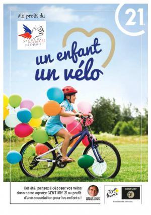 Un enfant un vélo
