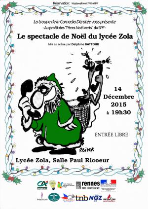 Spectacle au profit du SPF Rennes au lycée Emile Zola (14 et 15 décembre)
