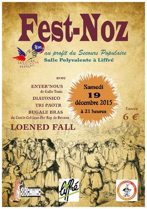 Fest noz à Liffré, 19 décembre 2015