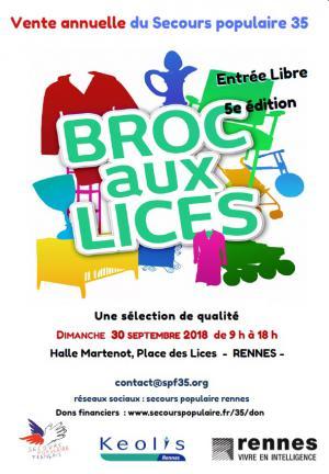 Brocolis - affiche de la 5 ème édition de la grande vente solidaire en faveur des actions du Secours populaire d'Ille-et-Vilaine