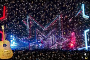 Concert M - photo mosaique de l'initiative de collecte au Musik Hall