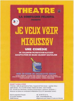 Spectacle de théâtre à Rennes - 7 octobre