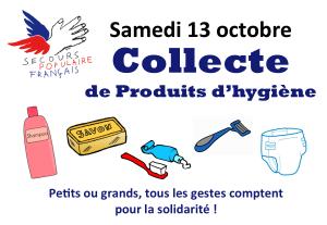 Collecte de produits d'hygiène
