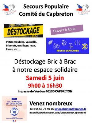 Déstockage  Bric à Brac solidaire