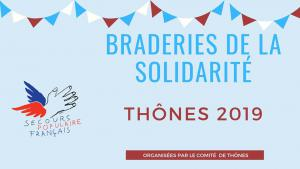 Braderies de la solidarité Thônes : nouveau