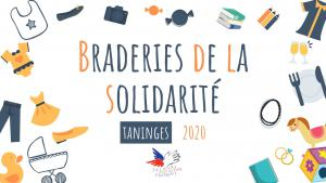 Braderies de la solidarité Taninges 2020
