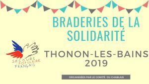 Braderies de la solidarité Thonon : nouveau