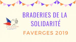 Braderies de la solidarité Faverges