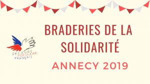 Braderies de la solidarité Annecy