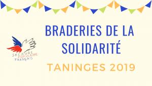 Braderies de la solidarité Taninges