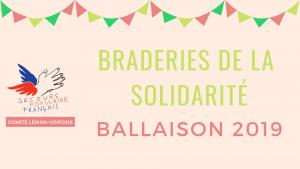 Braderies de la solidarité Ballaison