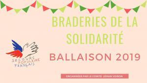 Braderies de la solidarité Ballaison : nouveau