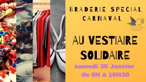 Braderies de la solidarité spéciale Carnaval