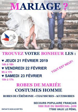 Braderie mariage SPF77