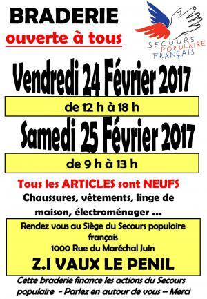 Braderie SPF77 février 2017
