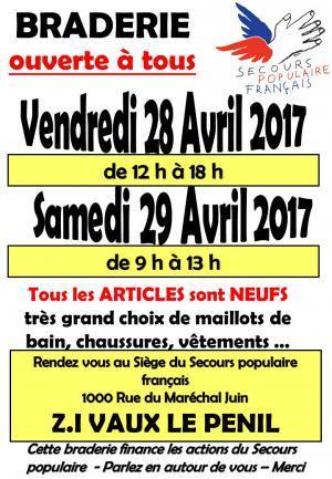 Braderie SPF77 Avril 2017