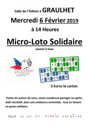 Micro-loto solidaire - Graulhet