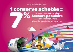Affiche Foire Conserve Carrefour Market