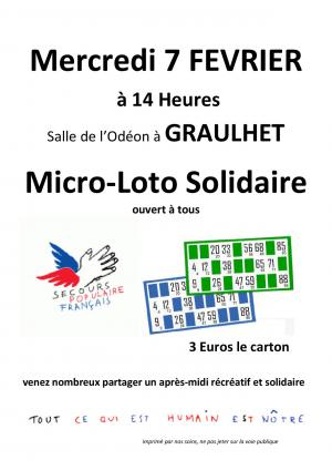 Micro loto solidaire Graulhet