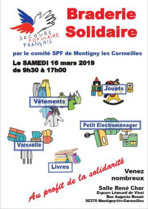 Braderie solidaire du 16 mars 2019