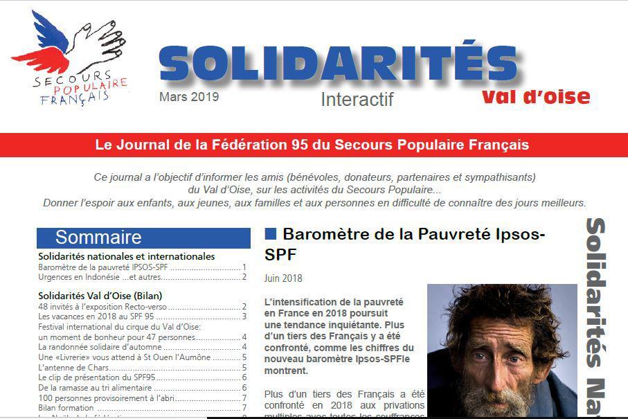 69d1f8dc0f Le journal interactif « Solidarités Val d'Oise » de mars 2019 est disponible