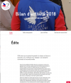 Edito du bilan d'activité 2018