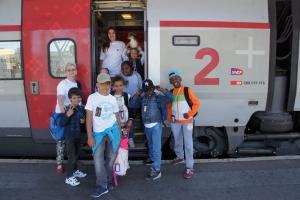Départ gare de Lyon, le 10 juillet 2015 pour des vacances en Suisse