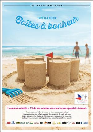 Boîtes à bonheur : affiche de la campagne
