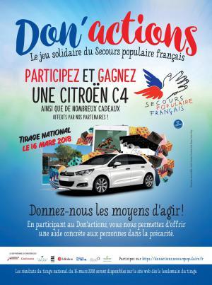 Don'actions 2018 : affiche de la campagne