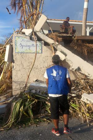 Urgence ouragans - dégât maison