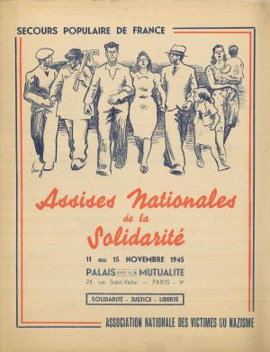 Affiche Congrès du SPF en 1945.