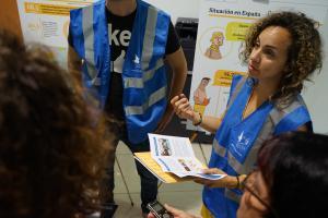 Les bénévoles du SPF ont rencontré leurs partenaires associatifs de Valence pour préparer un accompagnement des migrants et des demandeurs d'asile arrivés à Valence avec l'Aquarius.