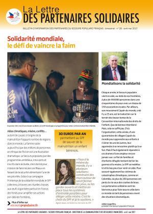 Couverture de La lettre des partenaires solidaires 28