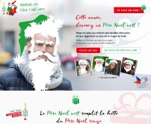 "Site web ""Devenez père Noël vert"""