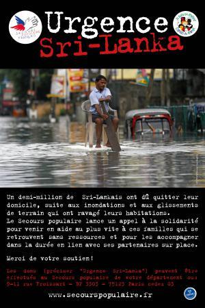 Aide d'urgence après les inondations au Sri Lanka