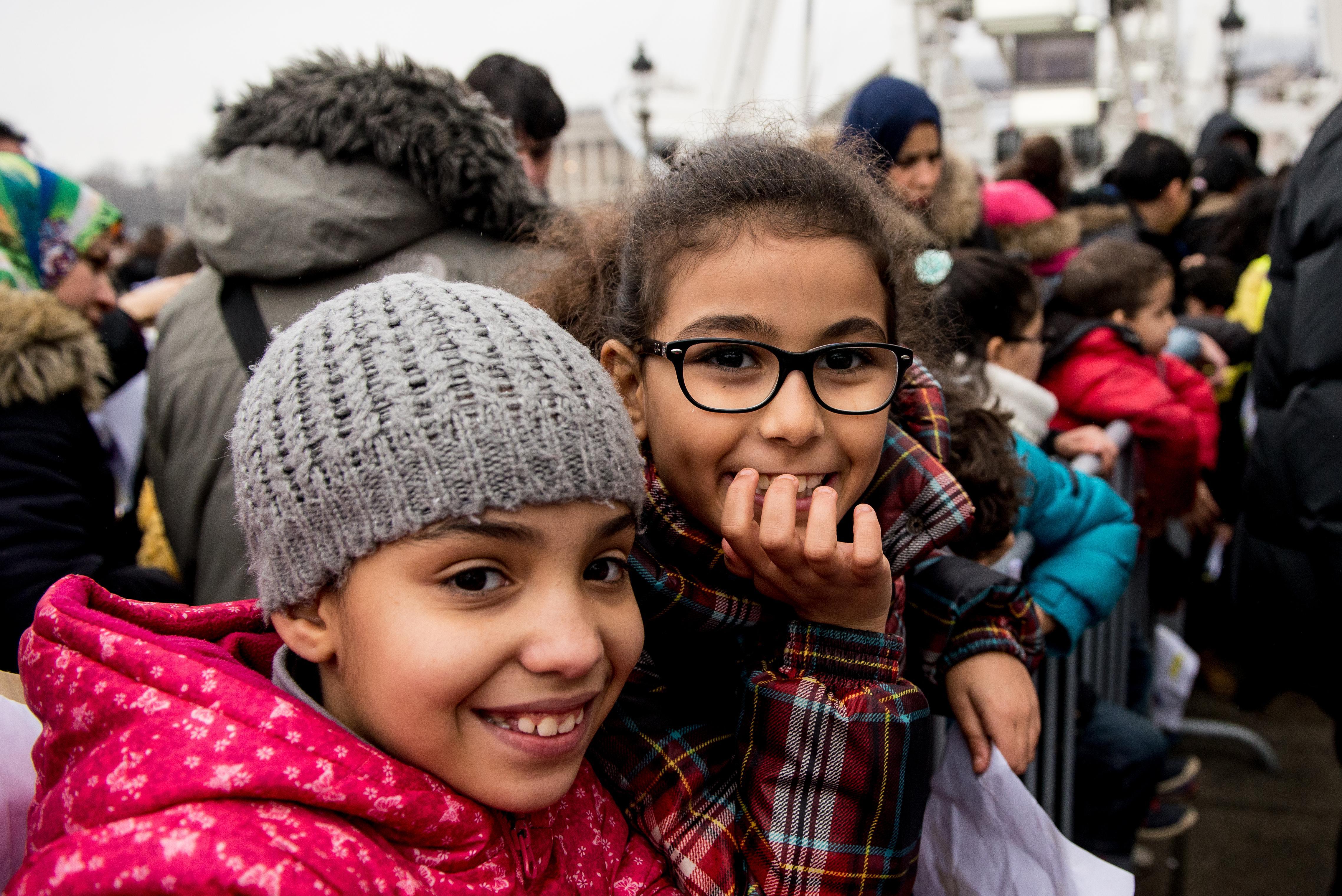 C'est Noël avant l'heure pour ces enfants invités à un après-midi festif place de la Concorde. La bonne humeur était de la partie.
