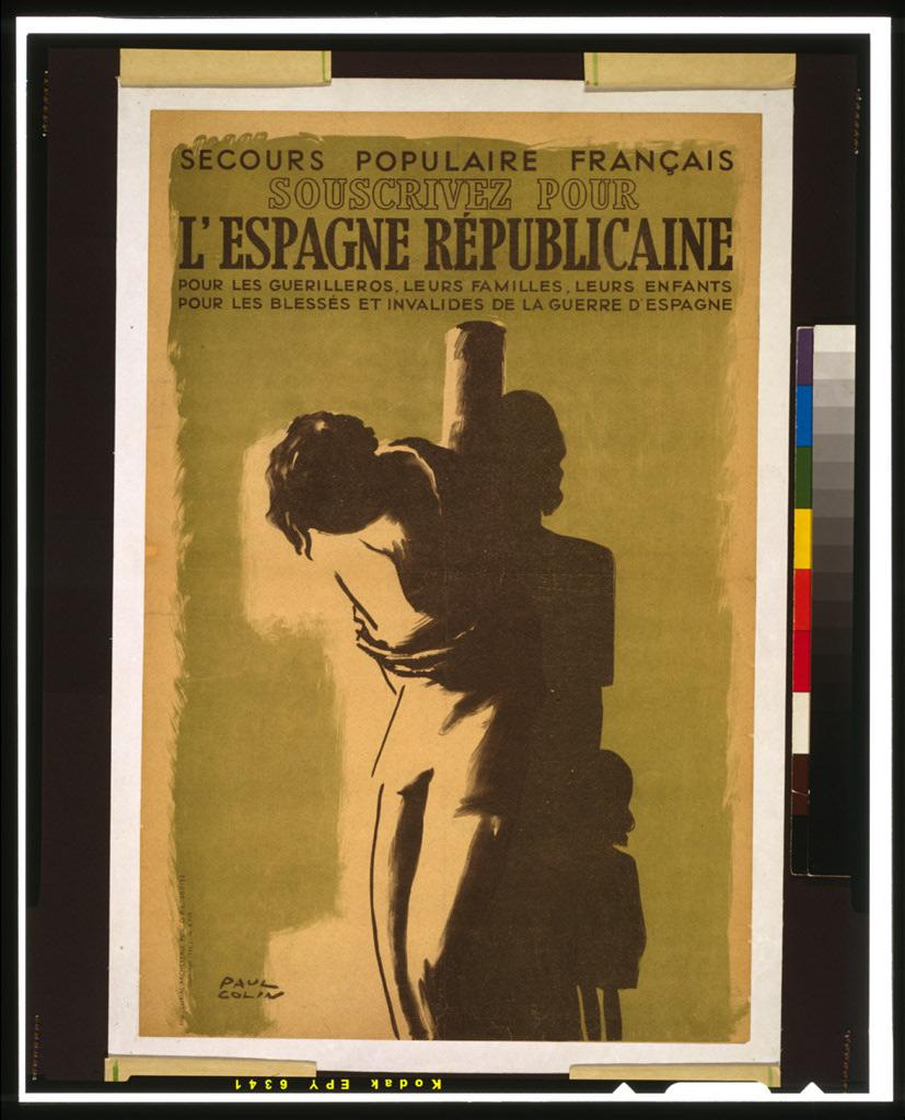 Affiche du Secours populaire de France et des colonies 1946 conservée à la National library of congress, Etats unis d'Amérique